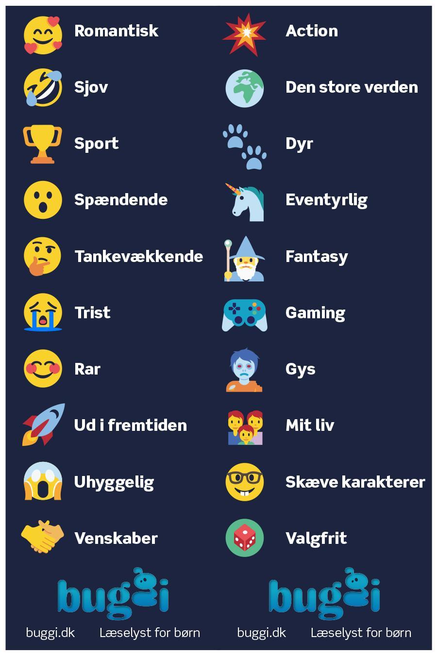 Find en ny bog med emojis